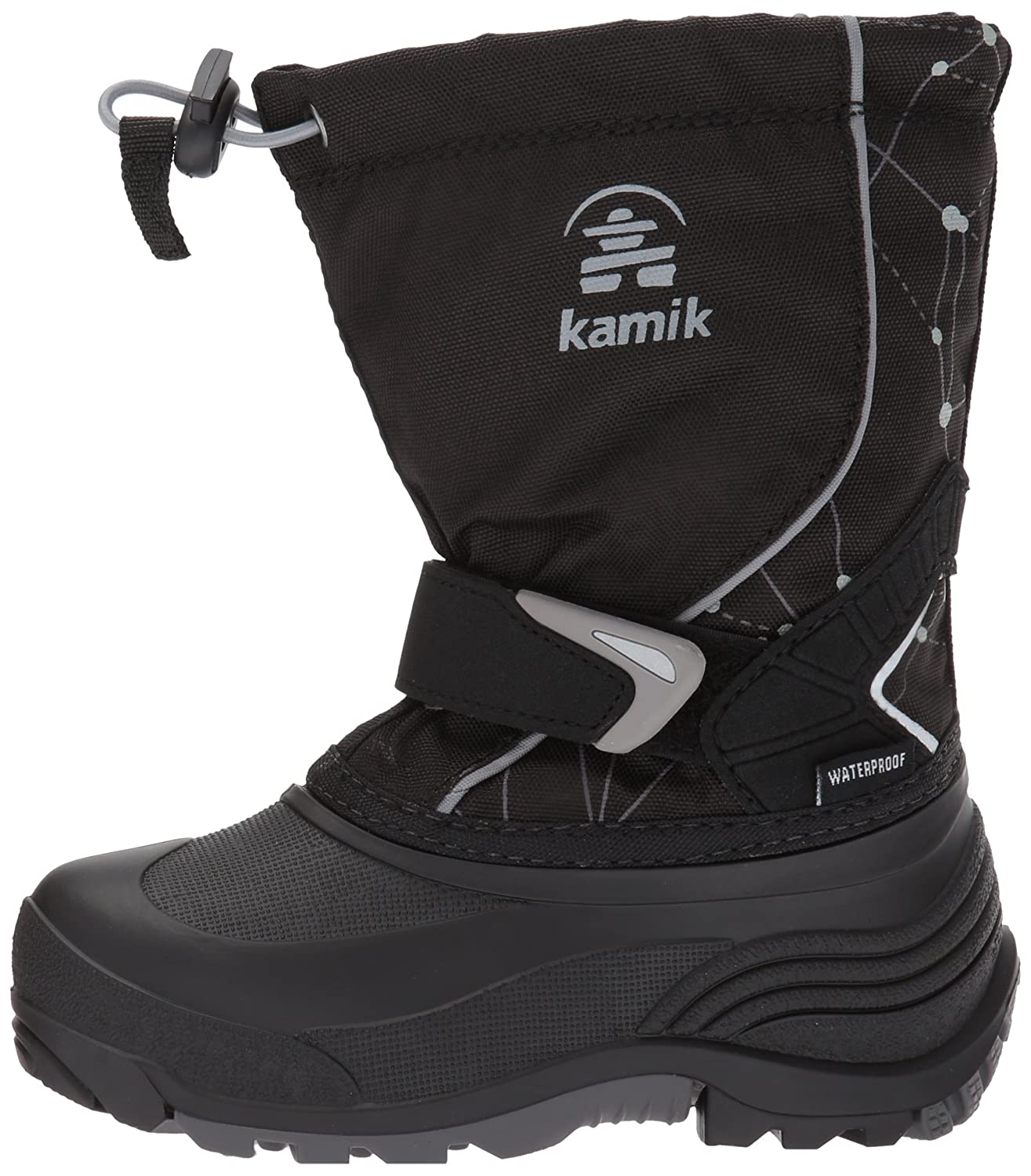 Kamik Kids' Sleet2 Snow Boots, Black, 5 M US Big Kid NK4426S