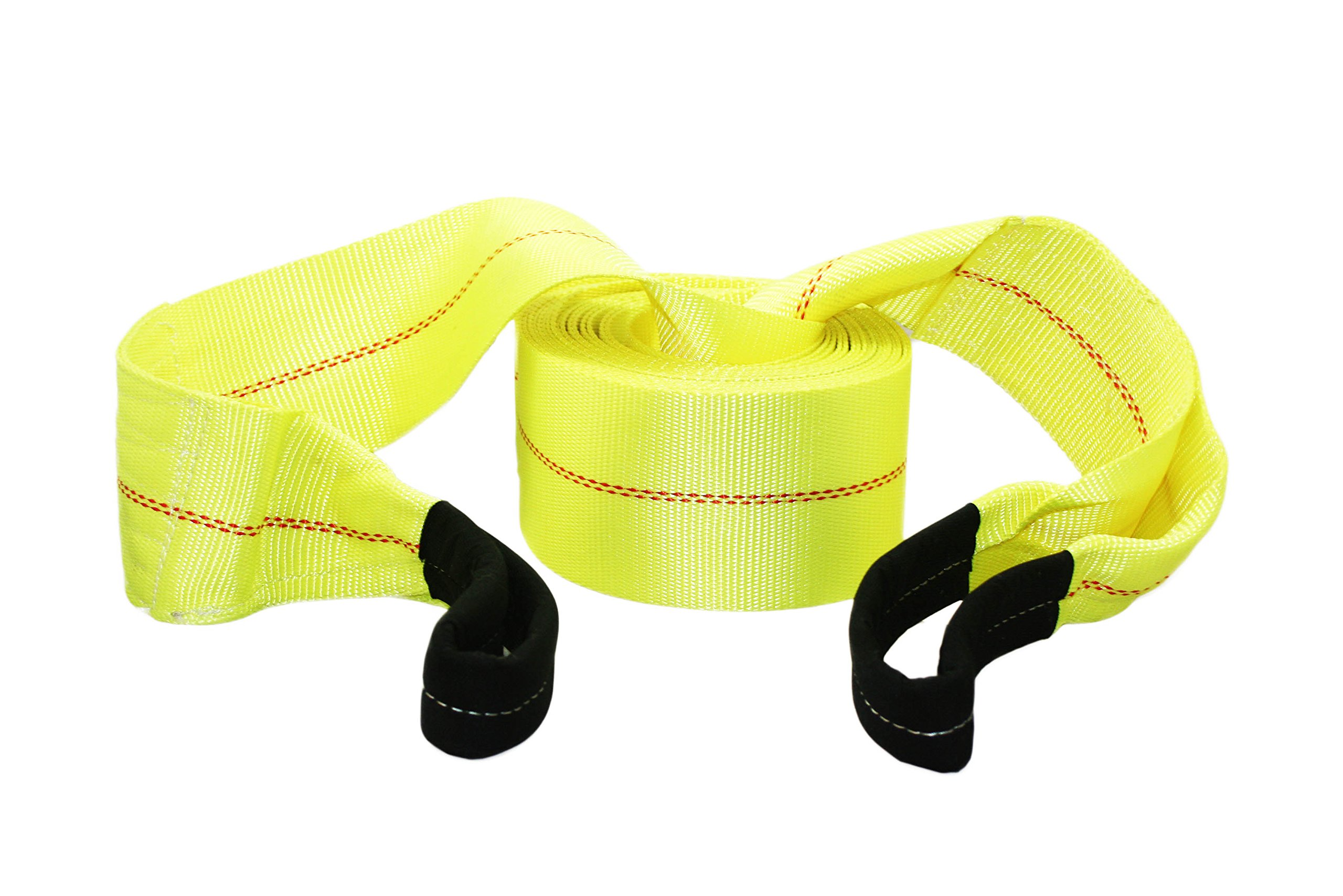 ABN Tow Winch Rope with Loops - Offroad Vehicle Recovery Strap - 30 Feet x 4in - 20,000 lbs Pound Towing Capacity by ABN