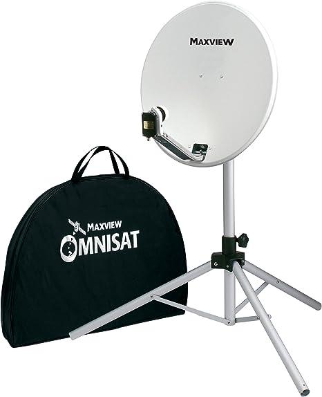 Maxview - Kit satelital portátil (54 cm), color blanco