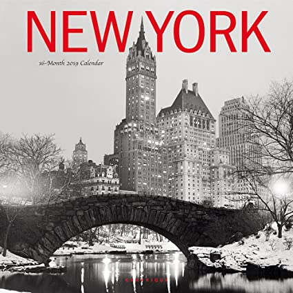 School Year Calendar 2019-16 Nyc Amazon.: Graphique New York 2019 Wall Calendar, 16 Month 12