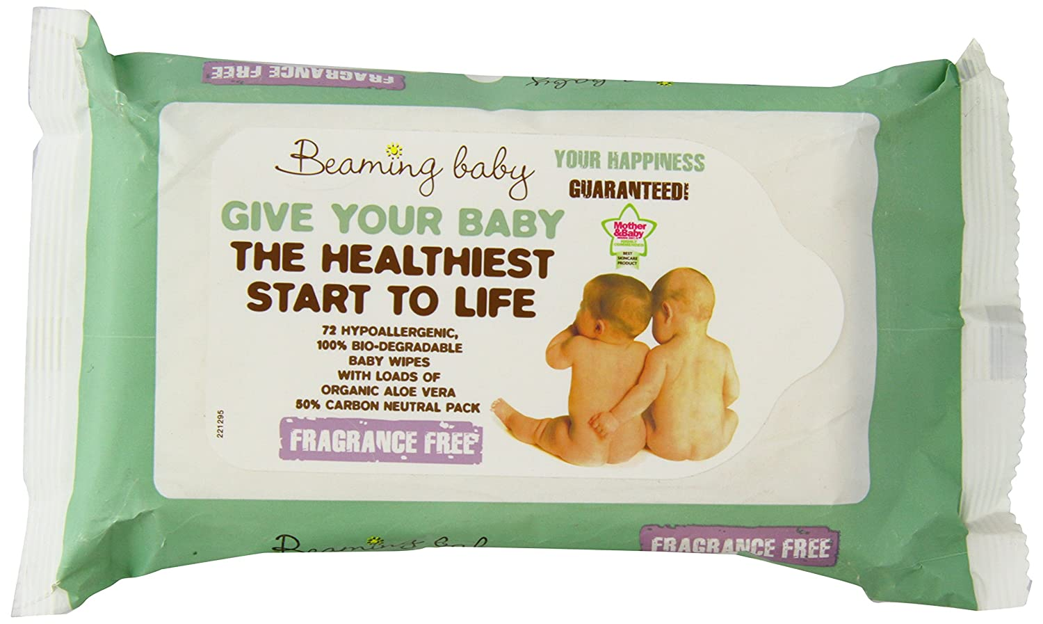 Beaming Baby Organic Fragrance Free Baby Wipes - Pack of 72 Baby Wipes 75253