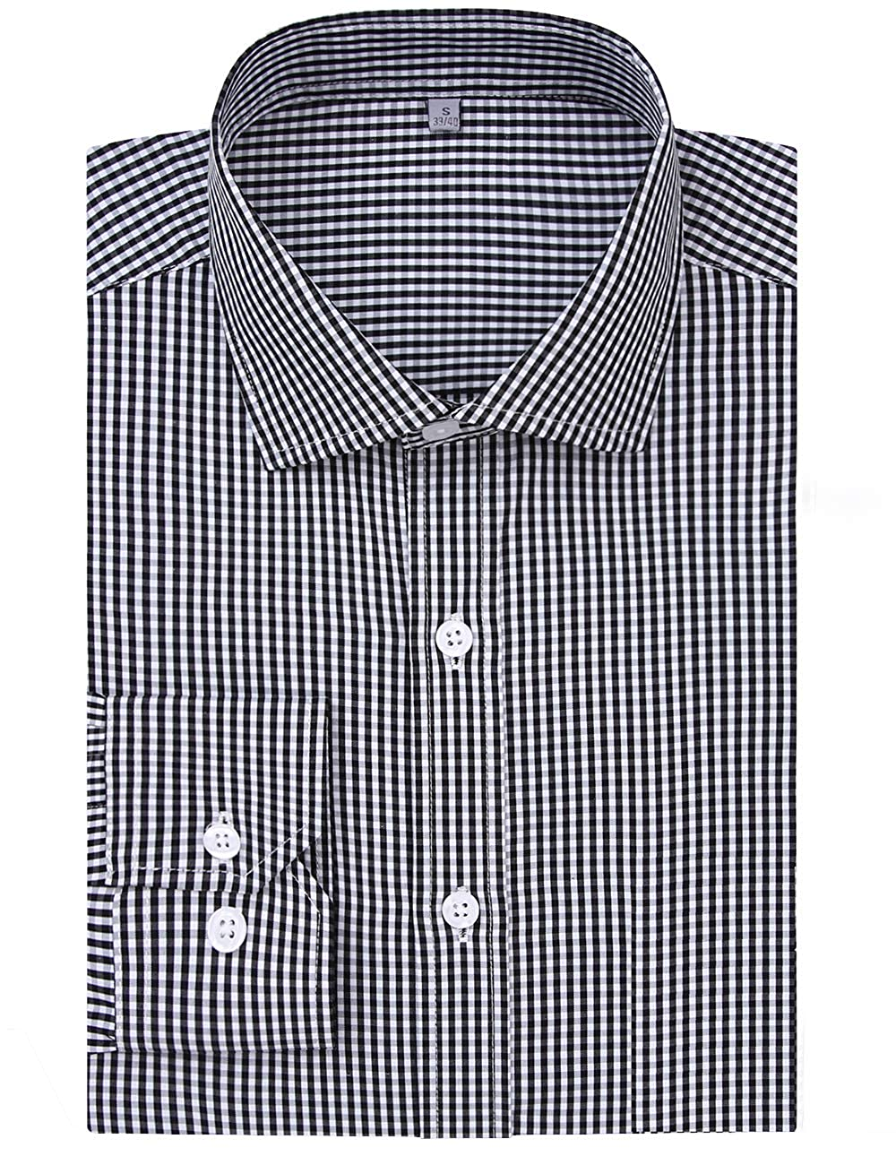 473a10eafc STYLE:Men's Tops Summer Fashion Slim Fit Dress Shirts(Classic Plaid  Gingham) FEATURE:This Stylish Men's Collared Dress Shirt ...