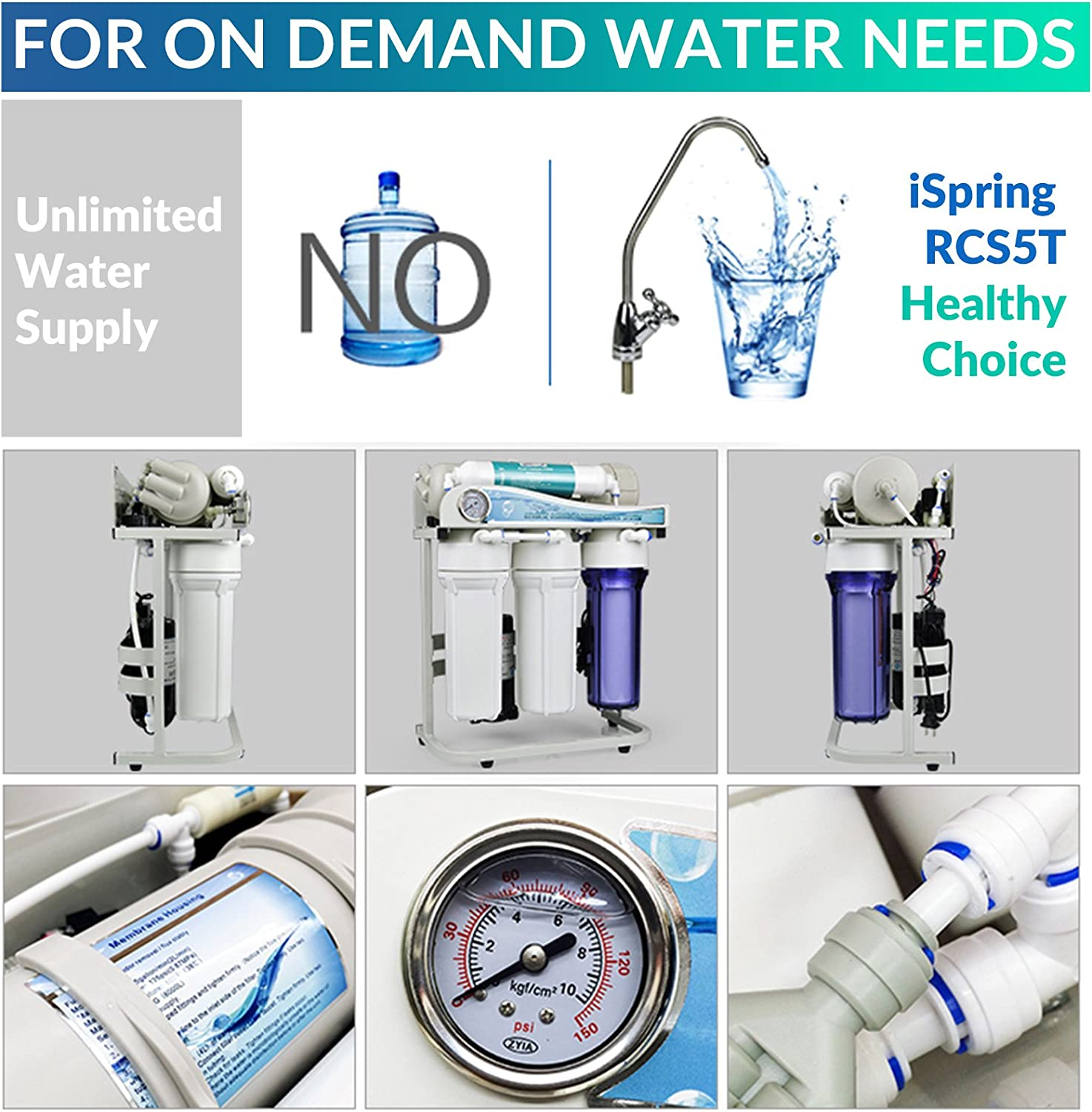 iSpring RCS5T Reverse Osmosis System