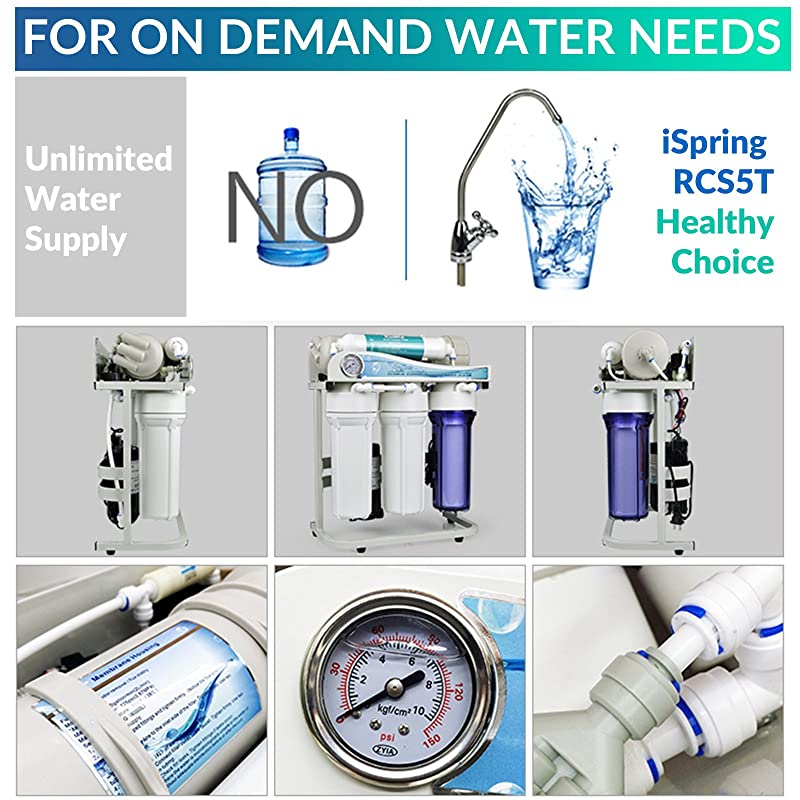 iSpring RCS5T Reverse Osmosis System - For On Demand Water Needs