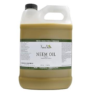 Zatural Organic Virgin Neem Oil 1 Gallon: 100% Natural Pure Cold Pressed No  Additives, Unrefined