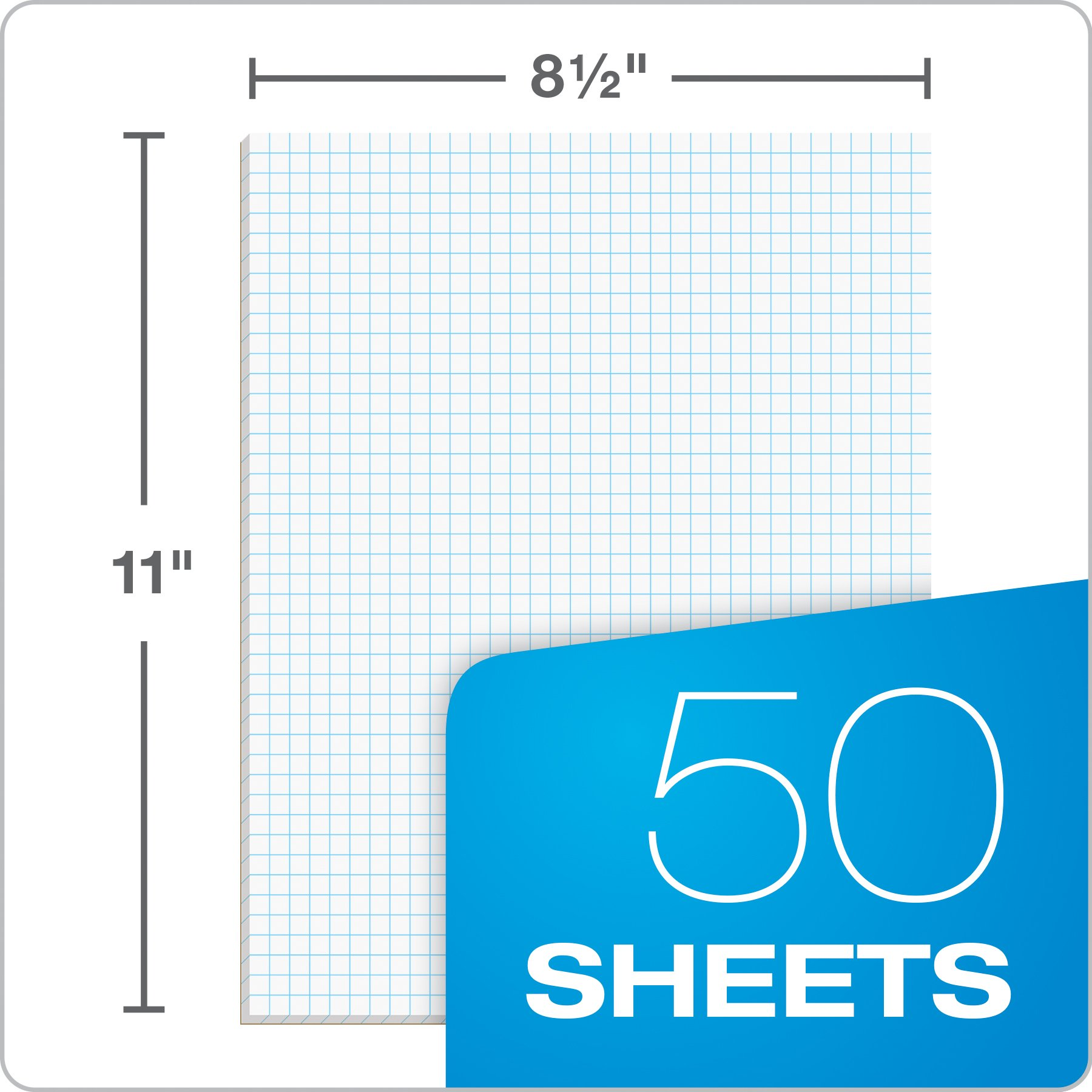Ampad Quadrille Pad, White, Letter, 4 Square Inch Rule, 40-Sheets, 1-Each by Ampad (Image #5)