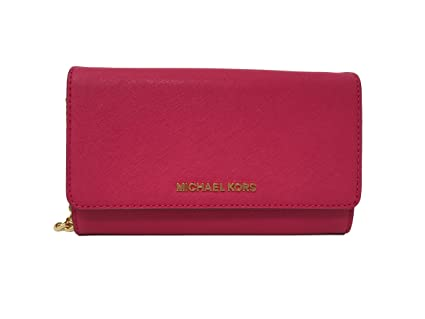 9c89ff4c5d61 Image Unavailable. Image not available for. Color: Michael Kors Womens Jet  Set Travel LG Phone Crossbody Wallet ...