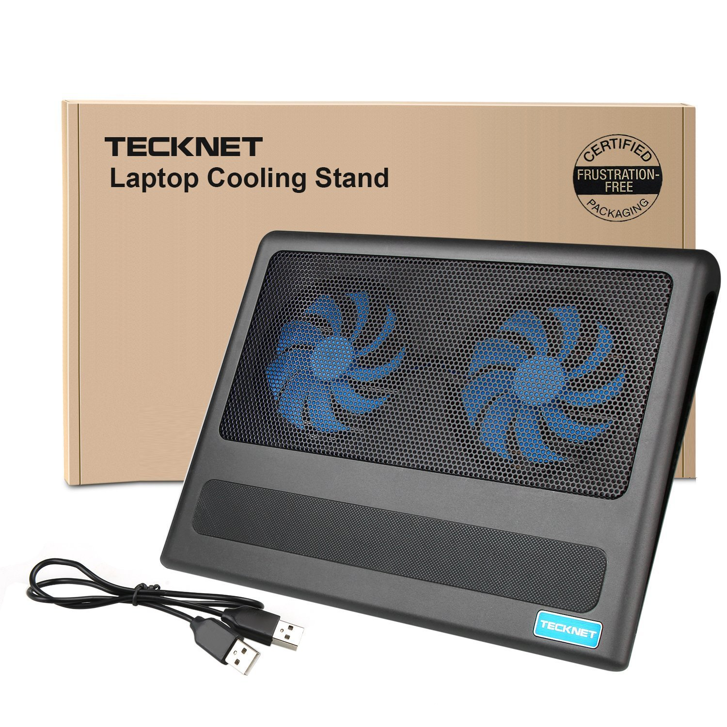 TeckNet Laptop Cooling Pad, Portable Ultra-Slim Quiet Laptop Notebook Cooler Cooling Pad Stand with 2 USB Powered Fans, Fits 12-16 Inches by TeckNet (Image #8)