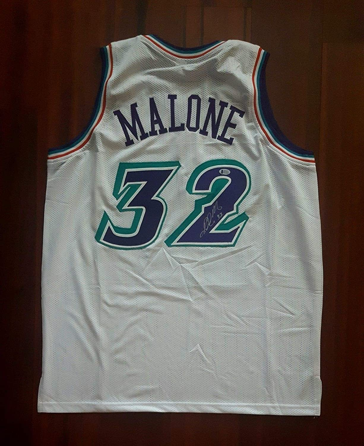 f0ada3d15 Karl Malone Signed Autographed Jersey Utah Jazz Beckett at Amazon s Sports  Collectibles Store