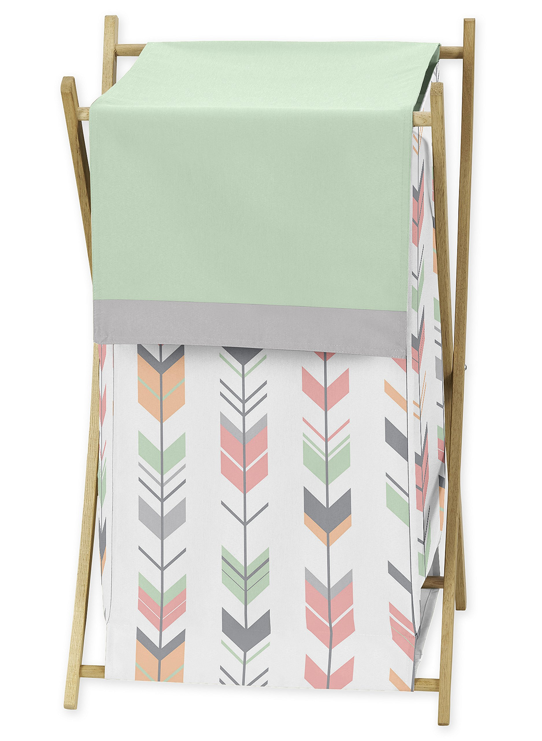 Sweet Jojo Designs Baby/Kids Clothes Laundry Hamper for Grey, Coral and Mint Woodland Arrow Girl Bedding Sets by Sweet Jojo Designs