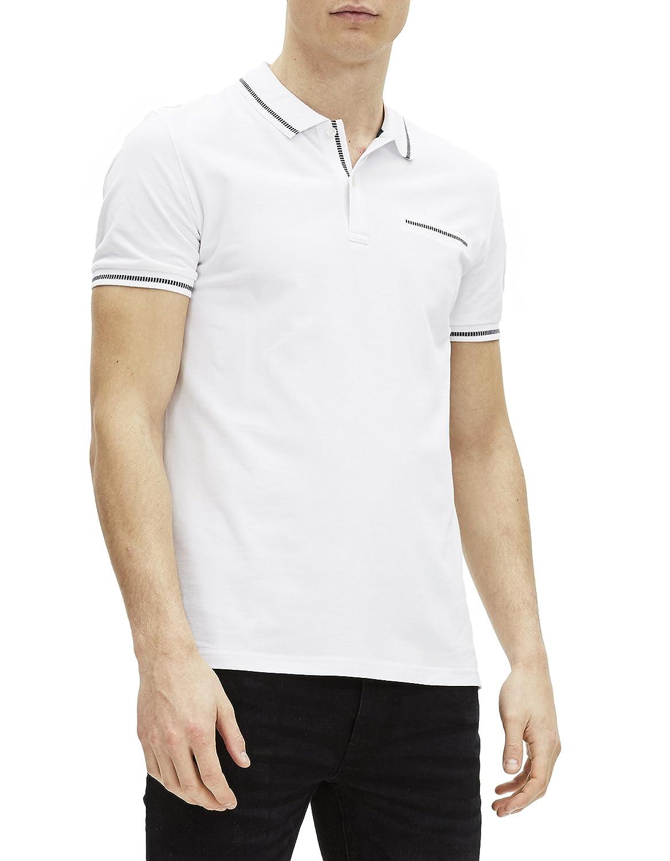 Celio GECROSSING, Polo para Hombre, Blanco Optical White, XXL ...