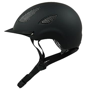 Casco de equitación K31 para niños y adultos en color negro, incluye práctica bolsa para