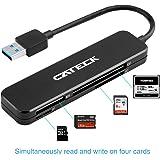 Lettore di Schede USB 3.0 a 4 Slot Cateck per Schede SDXC, SDHC, SD, CF, CF ad alta velocità (UDMA), MS, Micro SDXC, Micro SDHC e Micro SD