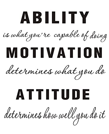 LUCKKYY Large Ability is What You\'re Capable of Doing Motivation Attitude -  Inspirational Family Words Quote Vinyl Family Wall Sticker Wall Decal ...