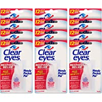 Clear Eyes | Handy Pocket Pal Redness Relief Eye Drops | 0.2 FL OZ | Pack of 12