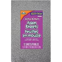 Elmer's Peel and Stick Foam Glitter Sheets, 15.24 X 22.86cm, 6 X 9-Inch, 12-Count, Assorted Colors (EC61301Q)