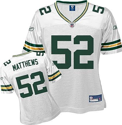 Amazon.com: Reebok Green Bay Packers Clay Matthews Women's Replica ...