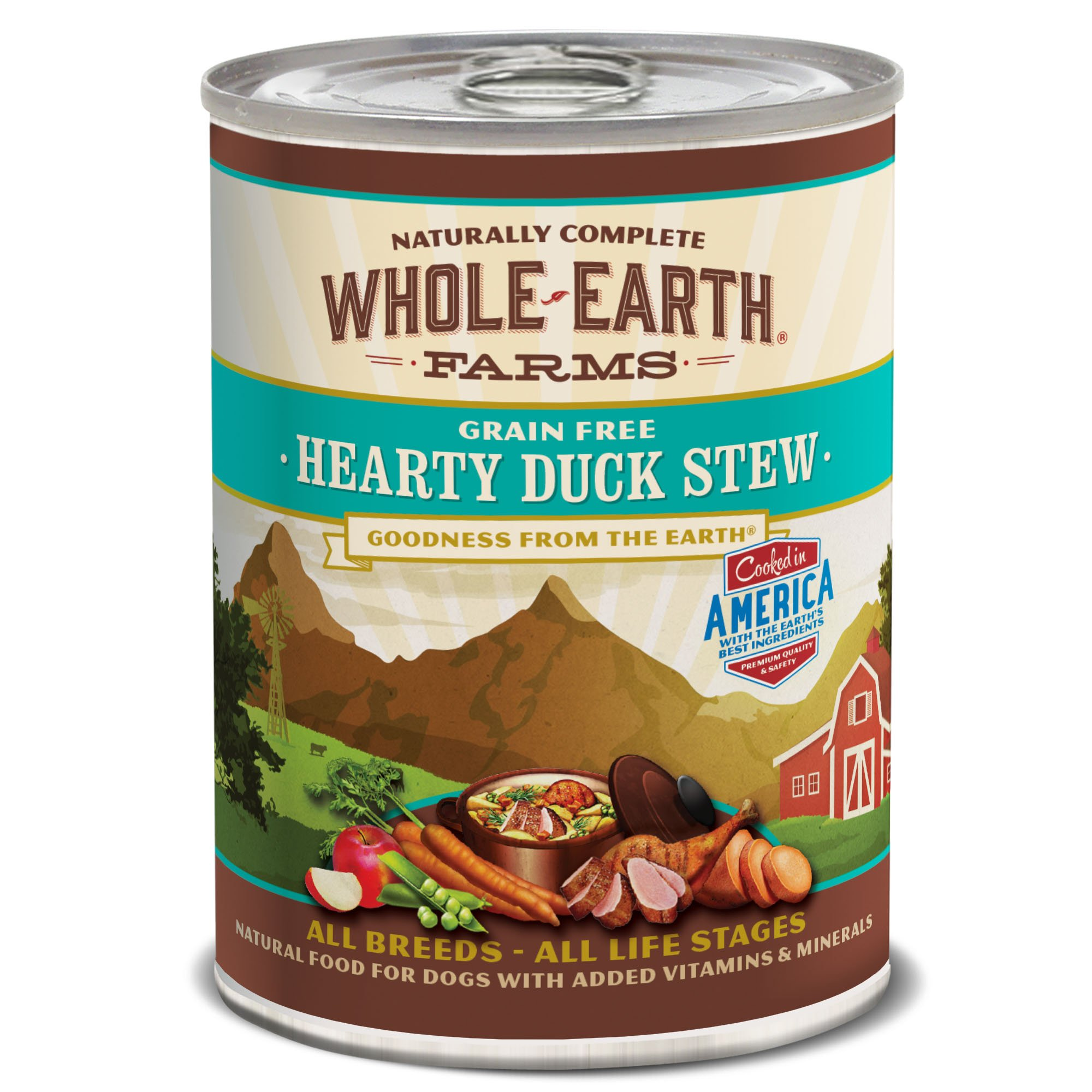 Whole Earth Farms Hearty Dog Grain Free Duck Stew 12.7 Oz, 12 Count by Whole Earth Farms