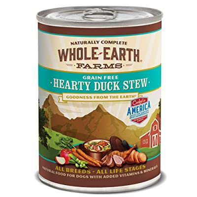 Whole Earth Farms Grain Free All Breed All Life Stages Wet Dog Food Hearty Duck Stew