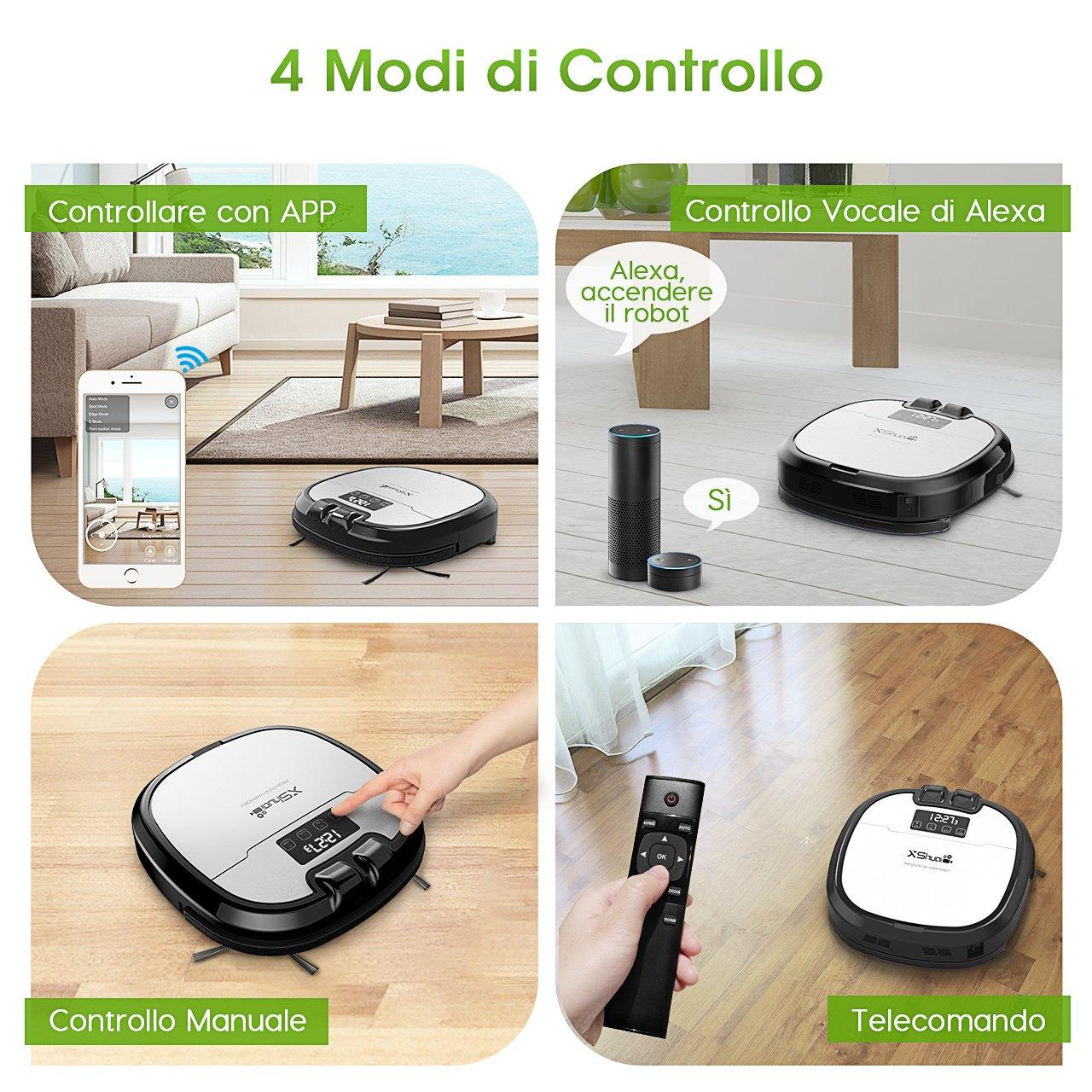 Holife Robot Aspirador con Depósito de Agua, Limpieza y Lavar automáticamente EL Suelo, Robot Aspirador limpiasuelos Apto para Suelos y alfombras: ...
