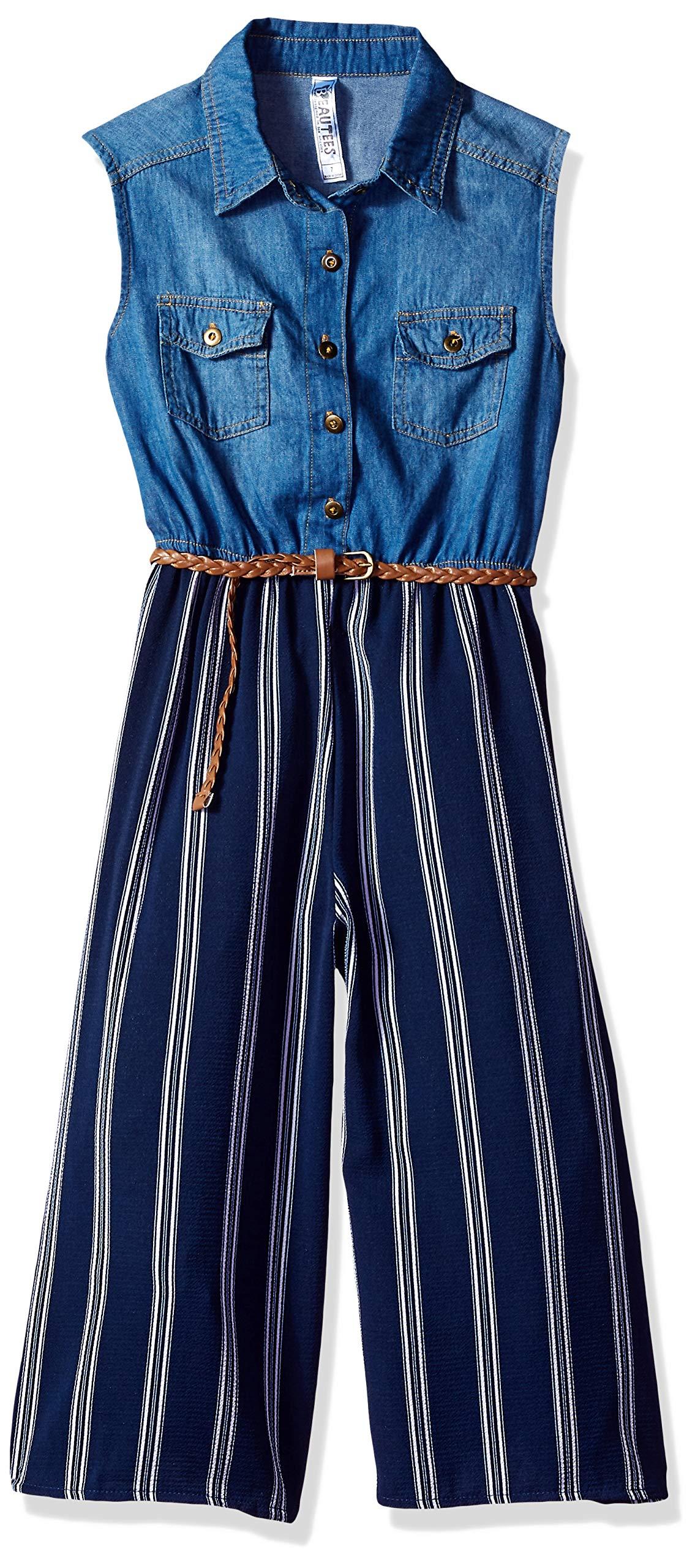 Beautees Girls' Big Jumpsuit, Navy 12