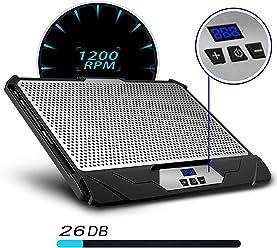 KLIM Swift Support ventilé vitesse réglable refroidisseur PC portable 2 ventilateurs Noir