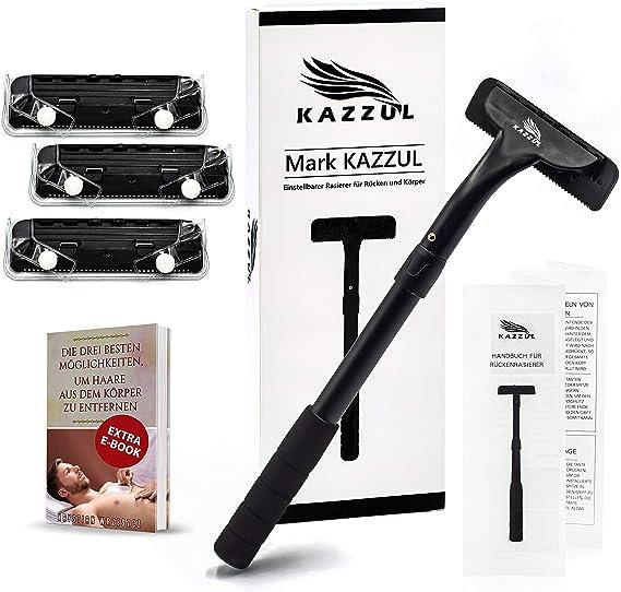 Afeitadora de espalda-KAZZUL afeitadora corporal para hombres con ...
