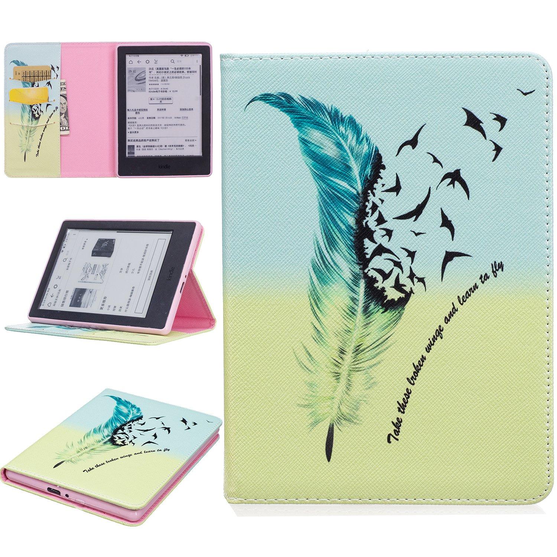 Amazon Kindle Paperwhite Funda LuckyW PU Cuero Funda para Tableta Resistente a