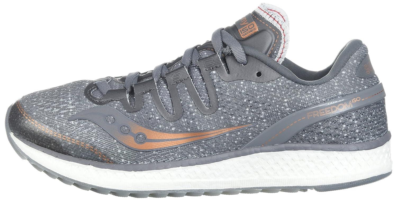 Saucony Women's Freedom ISO Running Shoe B071WKKSX2 7 B(M) US|Grey/Denim