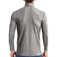 pamkyaemi Trui voor heren, gebreide trui, slim fit, turtleneck effen sweater basic turtle nek, trui met lange mouwen…