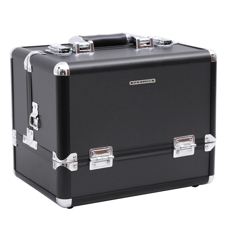 Songmics® maletin maquillaje profesional Con cerradura negro JBCB
