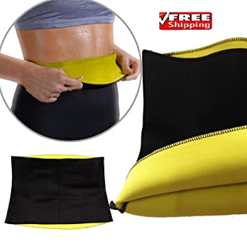 58154b9dd06 Hot Shapers Sweat belt Hot Slimming and Fitness Flat Stomach Neoprene  Bodyshaper Wrap Yoga Fitness firm