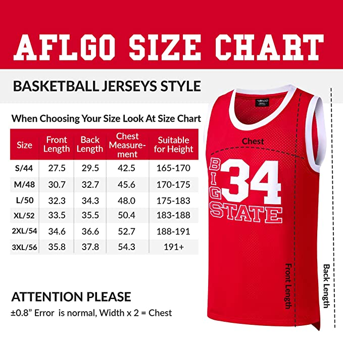 5f25724ab Amazon.com   AFLGO Jesus Shuttlesworth 34 Big State Basketball Jersey He  Got Game Red