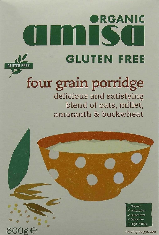 Amisa Organic Gluten Free Four Grain Porridge 300g (Pack of 3) 79924