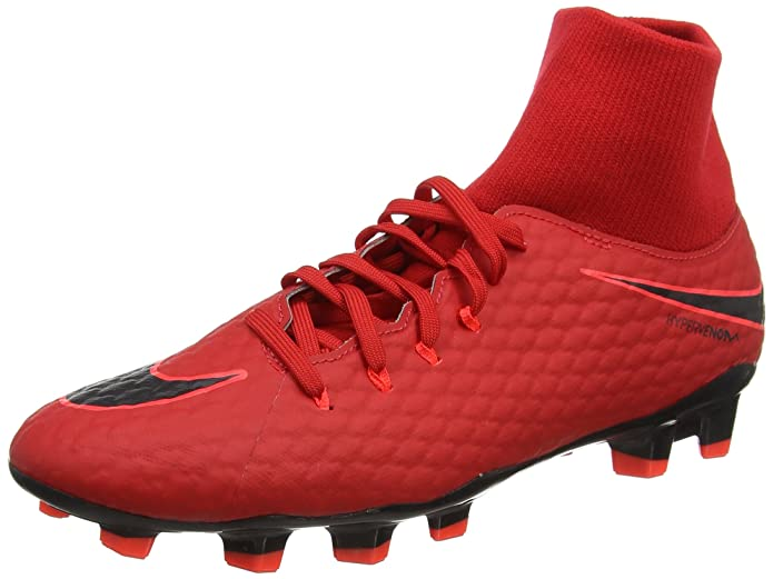 cheap for discount 428a7 3721d Nike Hypervenom Phelon III DF FG Soccer Cleats-Red Black Size  11.5  Buy  Online at Low Prices in India - Amazon.in