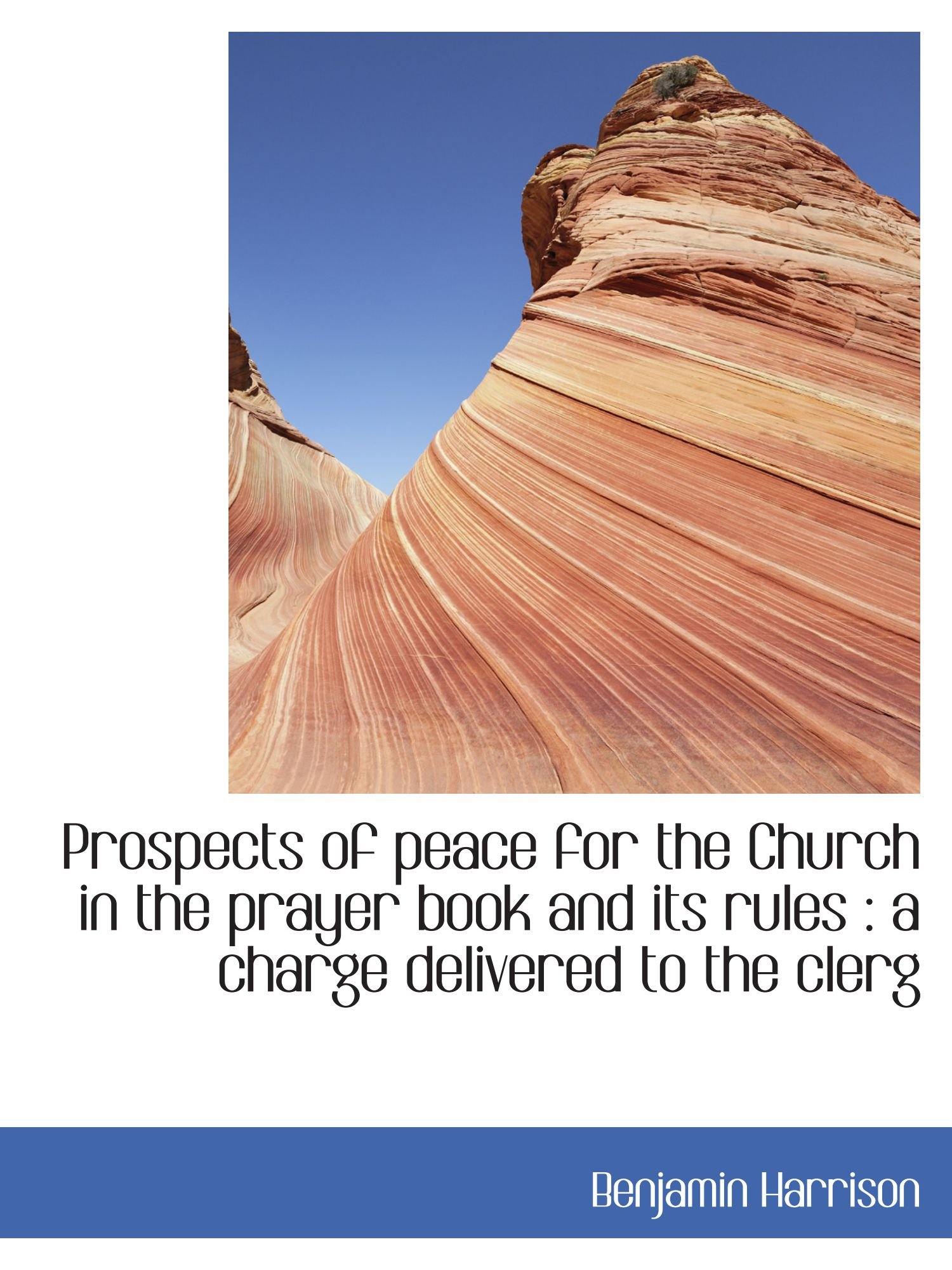 Prospects of peace for the Church in the prayer book and its rules : a charge delivered to the clerg PDF