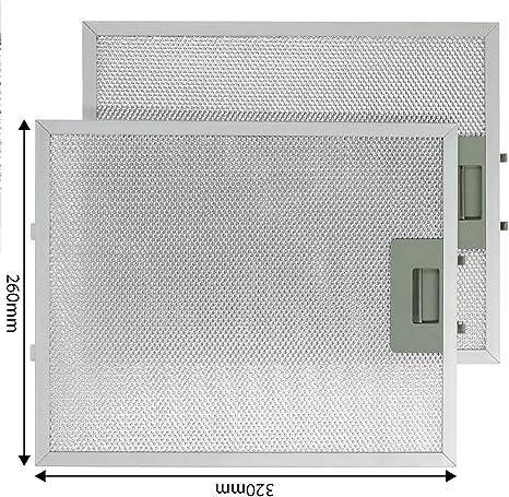 Baumatic - Juego de 2 filtros de aluminio para campana extractora de horno (320 x 260 mm, 2 unidades): Amazon.es: Grandes electrodomésticos