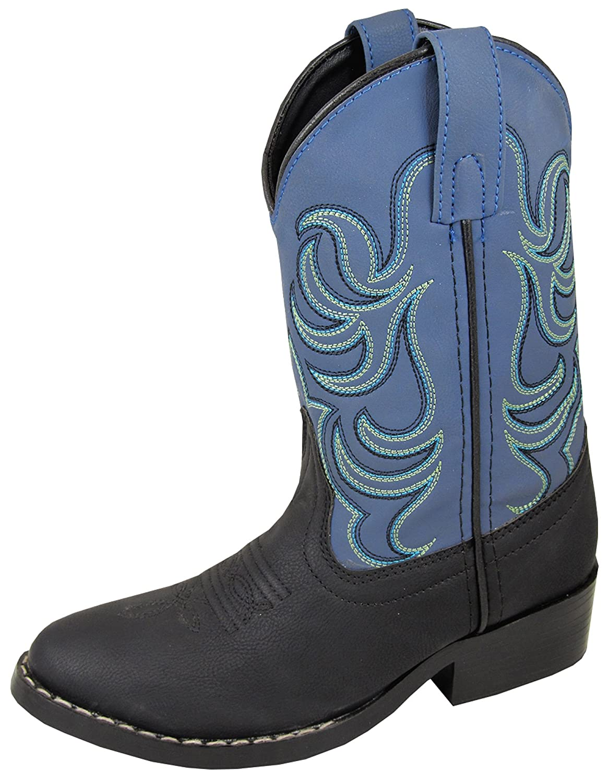 Smoky Mountain Kids Monterey Black and Blue Cowboy Boot 1576