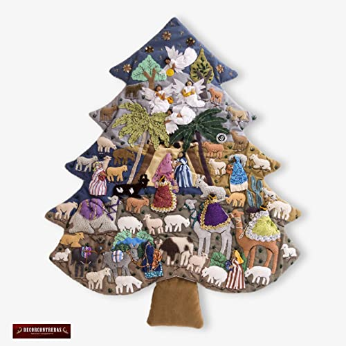 Amazon Com Quilted Christmas Tree Wall Hanging 21 2 H From Peru