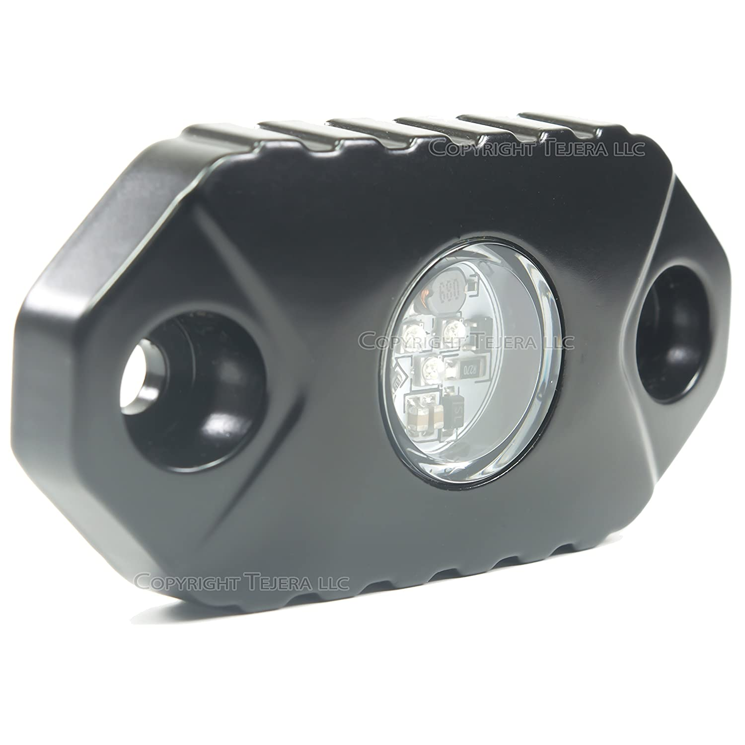 RED Neon Lights For Cars Super Bright CREE LED Replacement - Mini PODs Flood Work Light by SuiTech - For Interior and Exterior Trucks Under Car 4x4 Boat 4wd ATV Motorcycle - Waterproof Shockproof