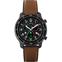 Timex Men's Metropolitan R Smartwatch with Leather & Silicone Strap