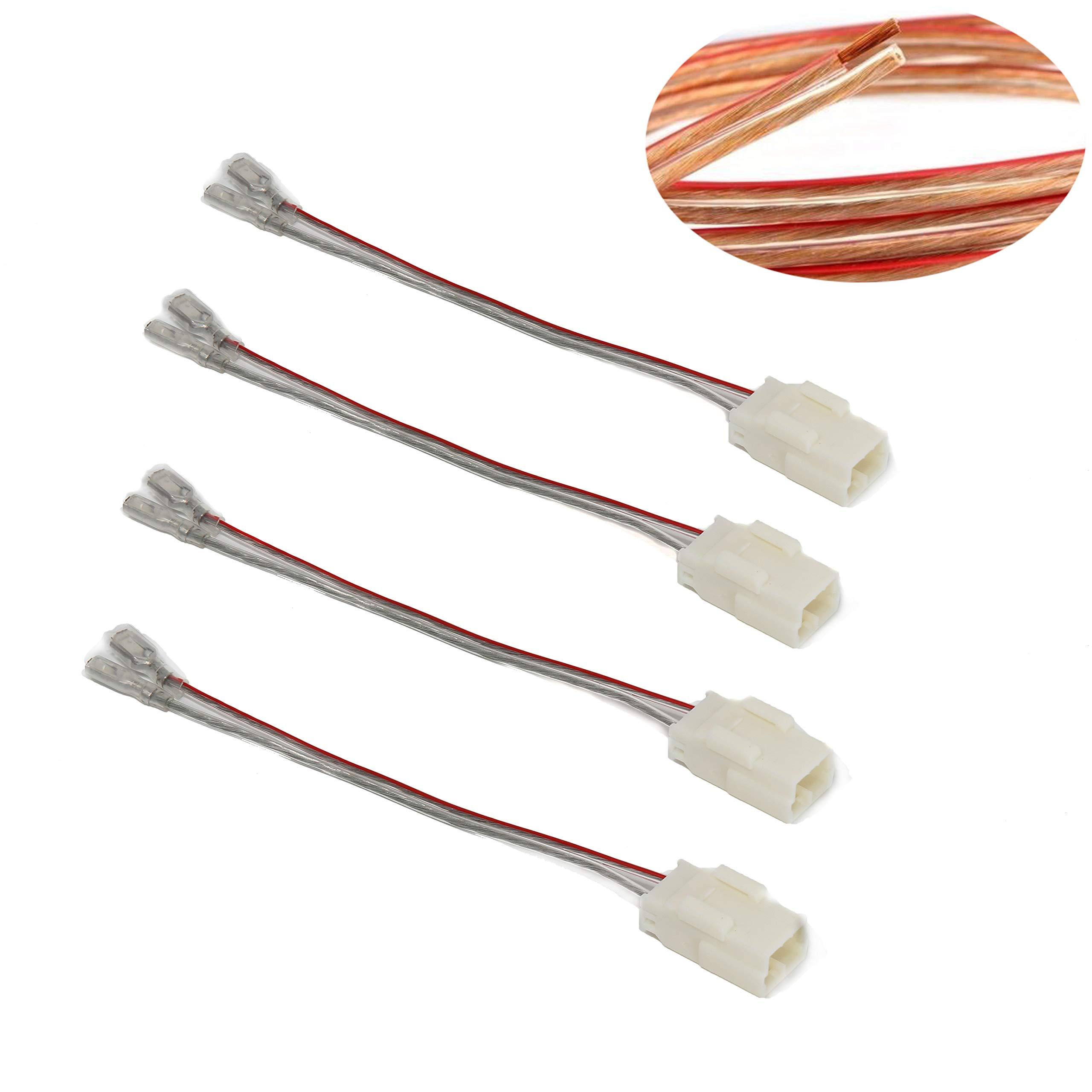 RedWolf for Chrysler Dodge RAM Vehicles Speaker Adapter Radio Aftermarket Wire Connector Harness Plug 4 pcs