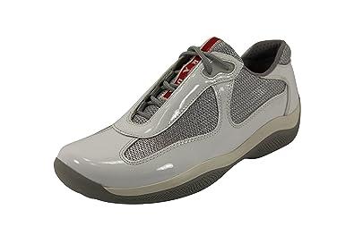 Prada Vernice Metal+Bike White Athletic Sneakers Women s Shoes 4e2c01497a