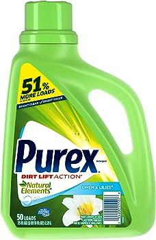 Purex Liquid Natural Elements Laundry Detergent, 75 oz (50 loads)