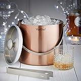 VonShef 3 Liter Copper Stainless Steel Ice Bucket