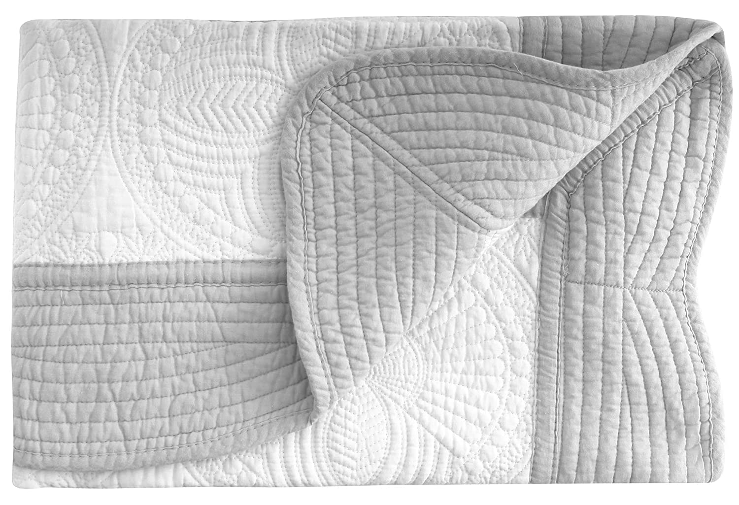 Lightweight All Weather Embossed Detail Cotton Quilt For Baby and Toddler AshopZ