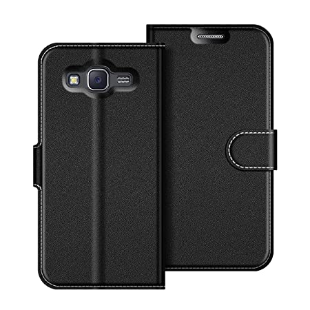 the best attitude be641 a8dad Samsung Galaxy J5 2015 Case, Coodio Galaxy J5 2015 Leather Case, Samsung  Galaxy J5 2015 Wallet Case, Magnetic Closure Flip Folio Case Cover [Wallet  ...