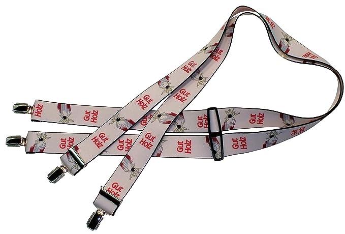 One Size 120 cm Anzug-Hosentr/äger L/ängs-Streifen Teichmann Schwarze Clip-Hosentr/äger Arbeitskleidung-Hosentr/äger Damen und Herren