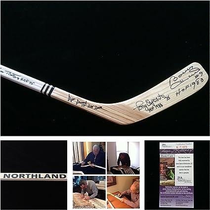 JSA COA Bobby Hull Tony Esposito Denis Savard Pierre Pilote Chicago Blackhawks Signed Autograph Northland Hockey Stick