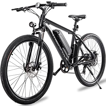 E Mountain Bike >> Merax 26 Aluminum Electric Mountain Bike 7 Speed E Bike 36v Lithium Battery 350w Electric Bicycle For Adults